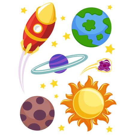 luna: Vector Illustration of Outer Space Elements Illustration