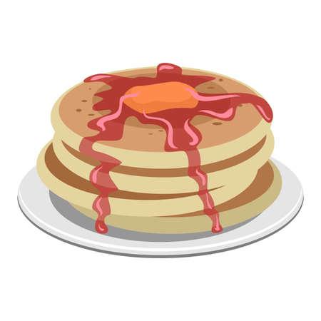 maple syrup: Vector Illustration of Pancake Illustration