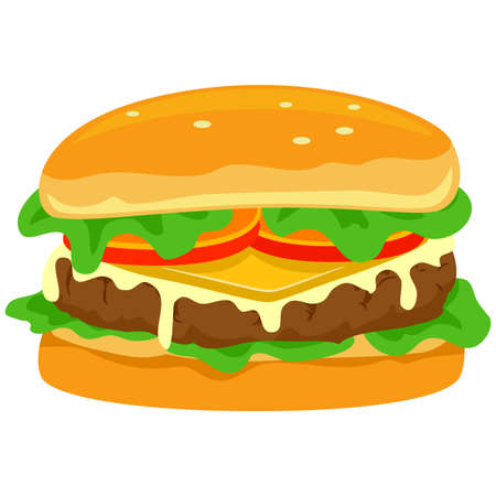 ground beef: Vector Illustration of Hamburger