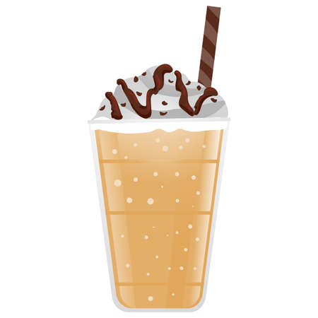 Vector Illustration of Frappe Coffee
