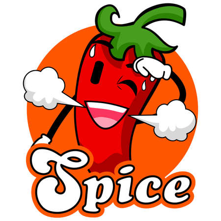 chili pepper: Vector Illustration of Spicy Chili Mascot