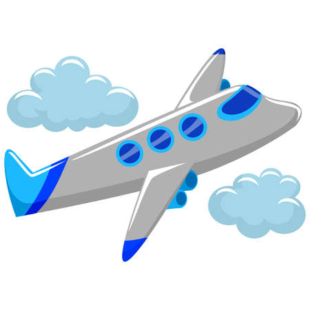 air liner: Vector Illustration of Flying Airplane
