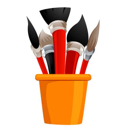 hair do: Vector Illustration of Different Paintbrush