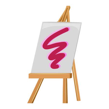 easel: Vector Illustration of Wooden Easel Illustration