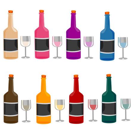 wines: Vector Illustration of Different Wines Illustration