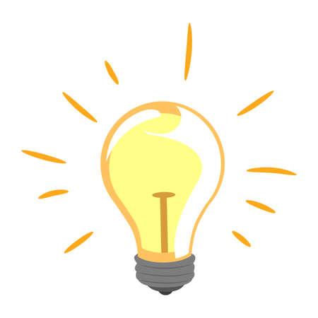 metal filament: Vector Illustration of Light Bulb