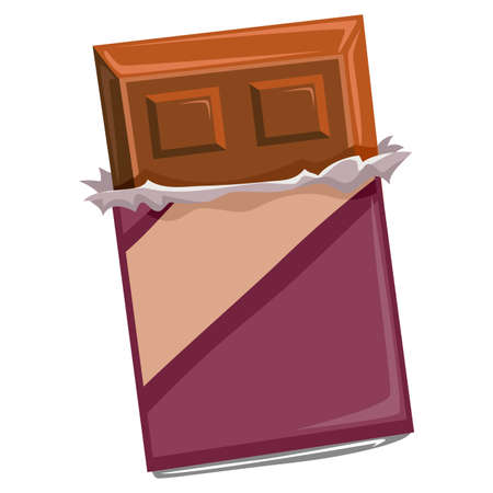 cravings: Vector Illustration of Chocolate Bar with package Illustration