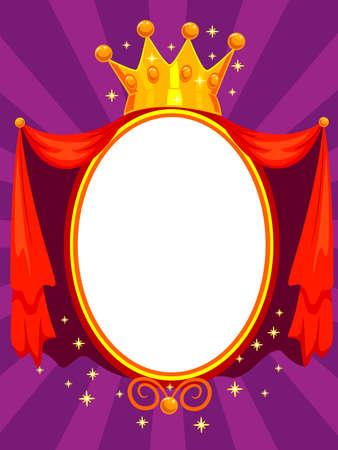エレガントな魔法の鏡のベクトル イラスト