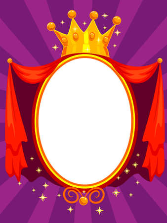 Vector Illustration of Elegant Magic Mirror