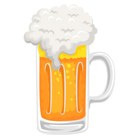 naturalistic: Vector Illustration of Beer Mug