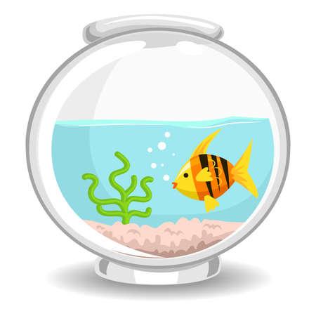 fish bowl: Vector Illustration of Fish Bowl