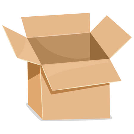 shipped: Vector Illustration of an Open Box