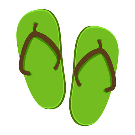beach slippers: Vector Illustration of Beach Slippers Icon