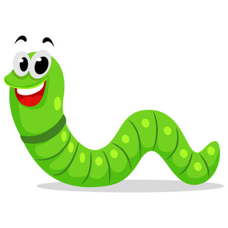 Vector Illustration of a Cute Caterpillar Mascot
