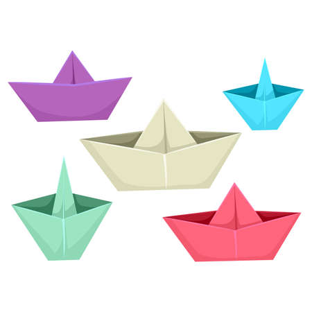 business symbols metaphors: Vector Illustration of Paper Boats