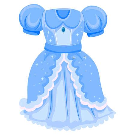 Vector Illustratie van Blue Dress for Princess