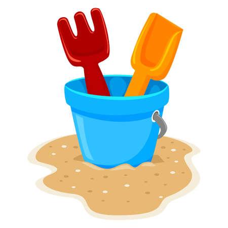 beach toys: Vector Illustration of Beach Toys