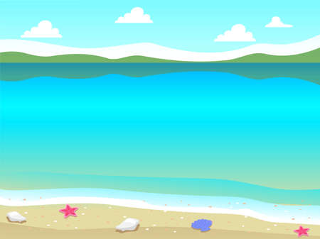 lost in space: Vector Illustration of Beach background