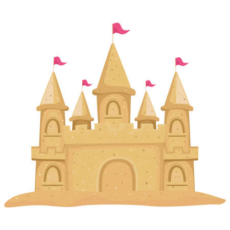 Vector Illustration of a Sandcastle