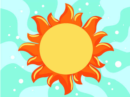 Vektor-Abbildung der Sommer-Hintergrund-Vorlage