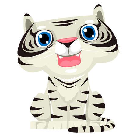fortune cat: Vector Illustration of a White Tiger Illustration