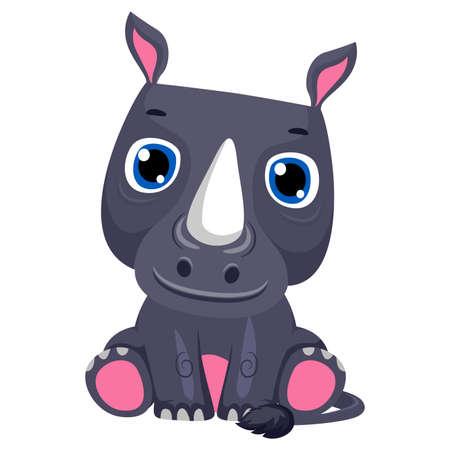 gaping: Vector Illustration of a Hippopotamus