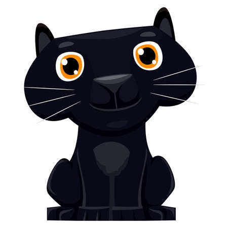 undomesticated: Vector Illustration of a cute cartoon Black Panther