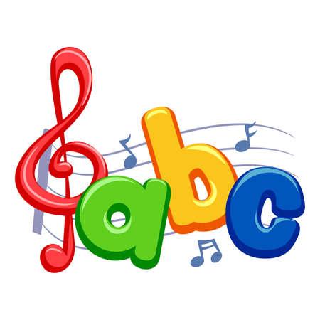 Ilustracja wektora Notatki muzyki z ABC