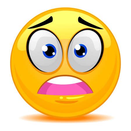 flushed: Vector Illustration of Smiley Emoticon Scared Face