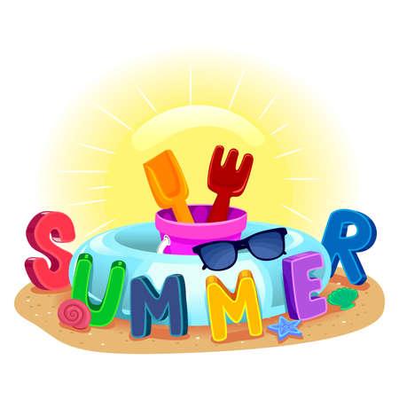 floater: Vector Illustration of Summer Elements