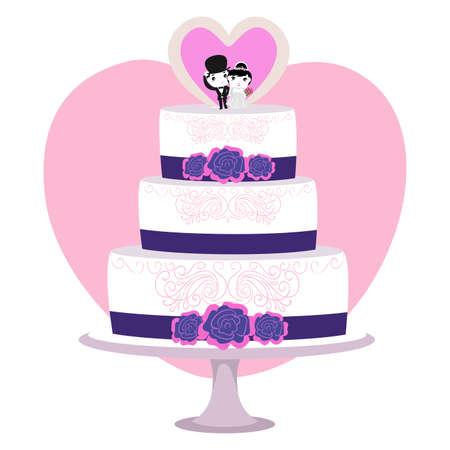 topper: Vector Illustration of Wedding Cake Illustration