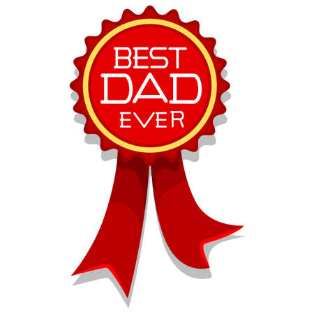 Vector Illustration of Best Dad Ever Ribbon Style
