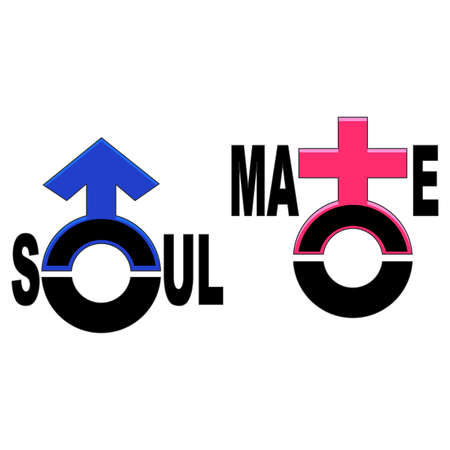 marital: Vector Illustration of Soulmate Symbol