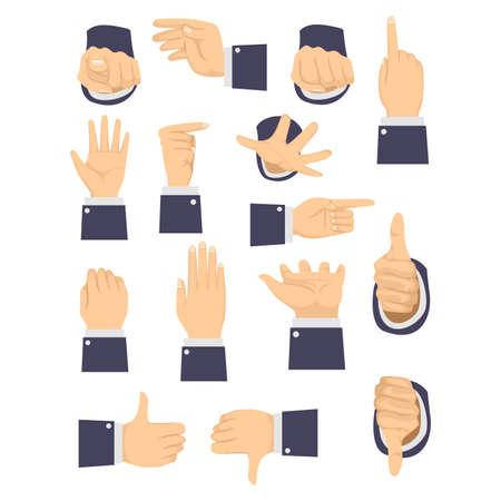 pinching: Vector Illustration of Different Hand Gesture Illustration