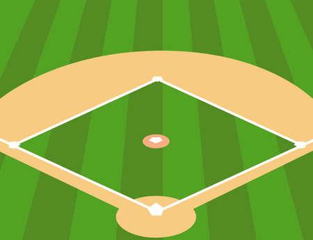 Ilustración del vector del campo de béisbol como fondo Foto de archivo - 60249812