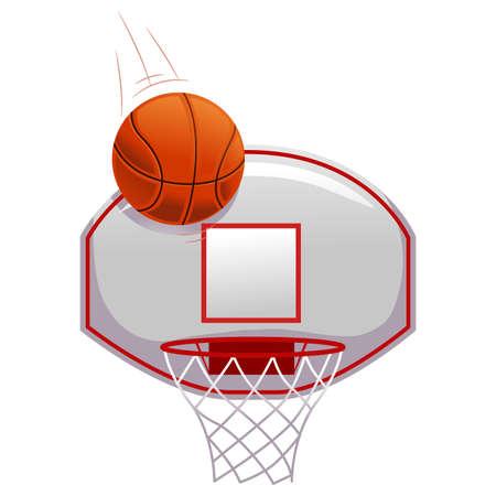 basketball shot: Vector Illustration of Basketball shot on Ring