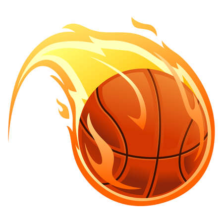 Vector Illustration of Ball on fire 矢量图像