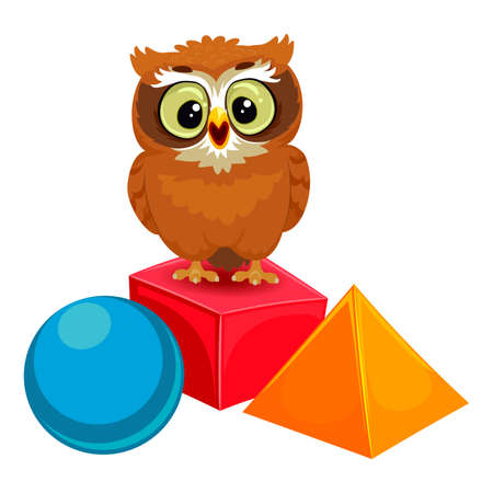 Vector Illustration of an Owl with Geometric Shapes