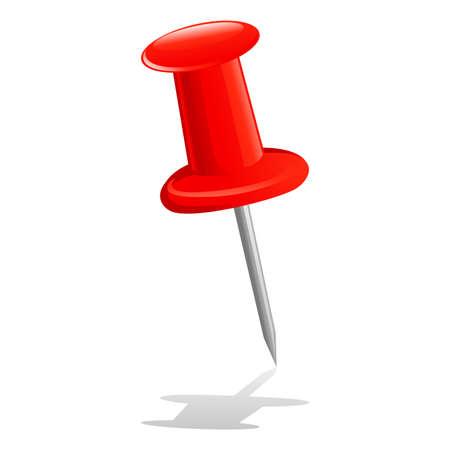red pushpin: Vector Illustration of Red Pushpin Illustration