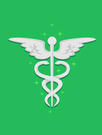 aesculapius: Vector Illustration of Medical Symbol Vectores