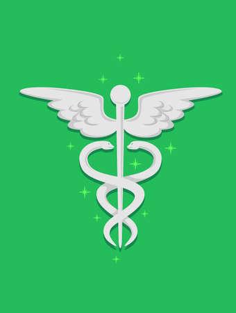scepter: Vector Illustration of Medical Symbol Illustration