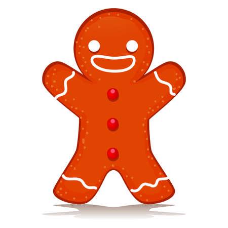 ginger bread: Illustration of Happy Ginger Bread