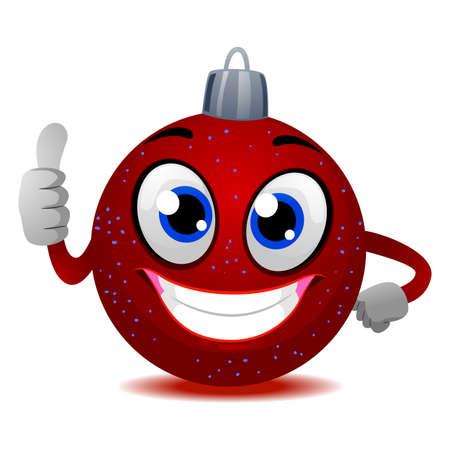 sphere standing: Illustration of Christmas Ball Mascot