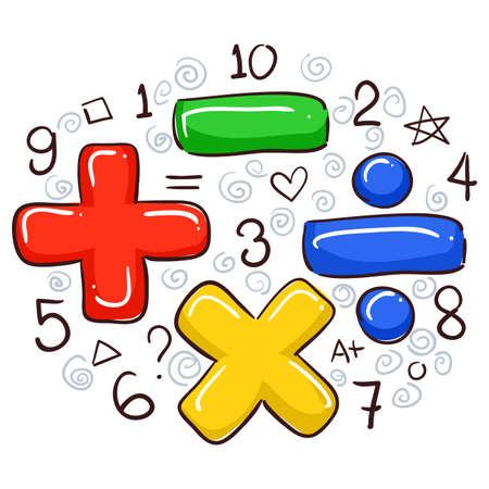 Ilustracja wektora symbole matematyczne i Numerów Ilustracje wektorowe