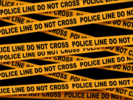 A Vector Illustration of Police Line Cross Tape.