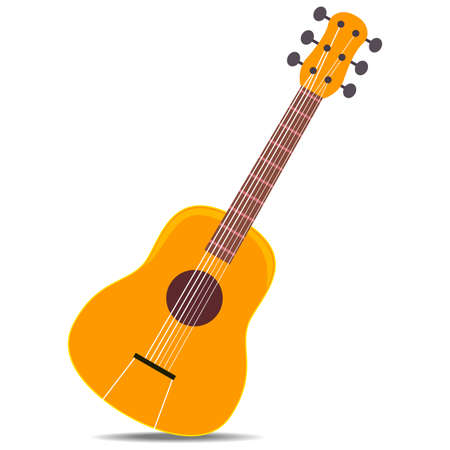 Vector Illustration of Wooden Classic Guitar