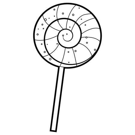 Coloring Book Outlined Lollipop vector illustration.  イラスト・ベクター素材