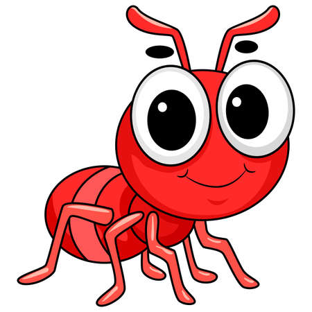 Vector Illustration of Cute Red Ant