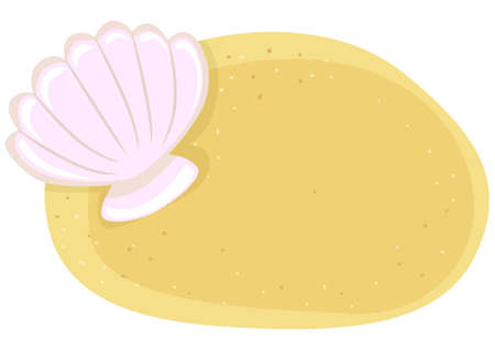 Vector Illustration of Shell in the Sand