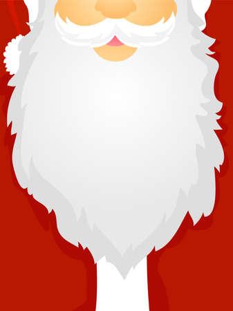 Santa Claus Beard as Board Frame Illustration
